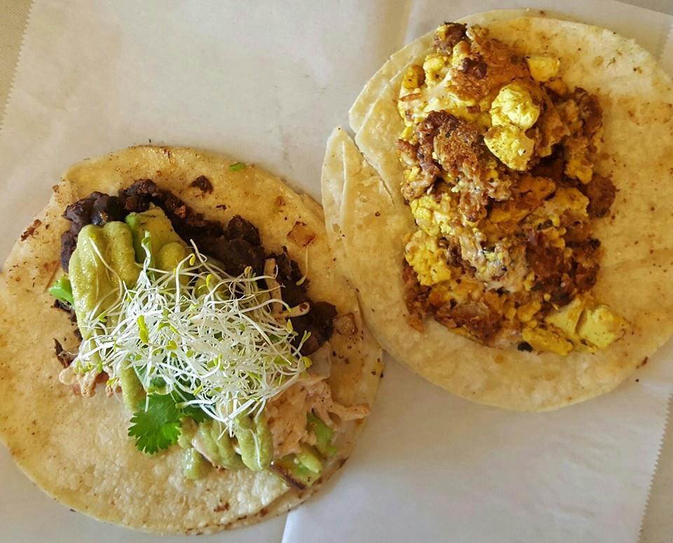 Vegan Nom's breakfast tacos