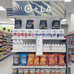 New to the grocery aisle are snack options from LA's Purely Pinole and Cactus Water.
