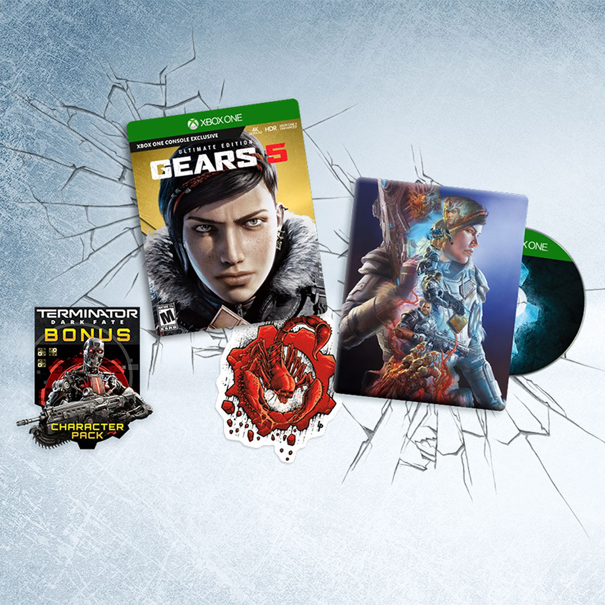 Components of the Gears 5 ultimate Edition