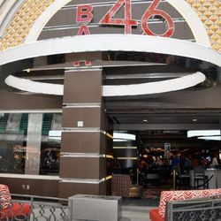 The view of Bar 46 from Fremont Street Experience.