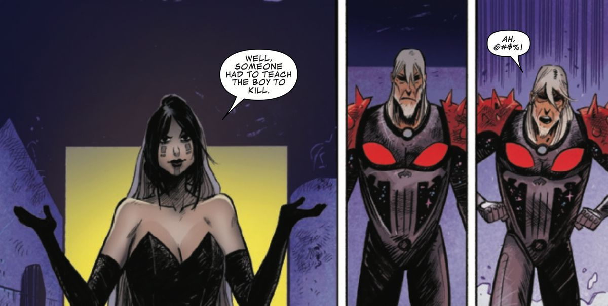 Mistress Death and Frank Castle, the Cosmic Ghost Rider in Cosmic Ghost Rider, Marvel Comics (2018).
