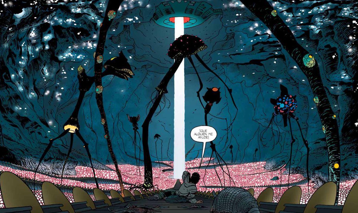 你需要阅读Barrier,一本关于移民和外星人绑架的漫画