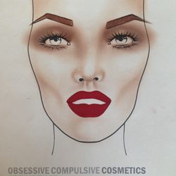 Face chart of the look I designed for Chromat show.