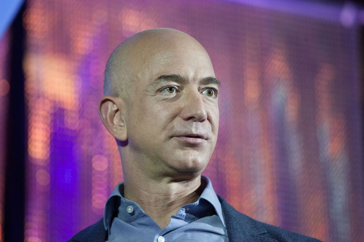 Amazon.com CEO Jeff Bezos. His patent on one-click shopping is one of the most famous business method patents.