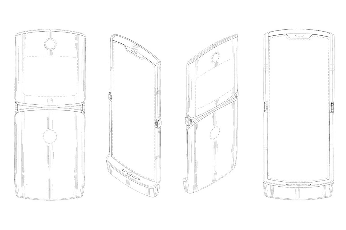 Патент Motorola RAZR с гибким экраном: а где фронтальная камера?
