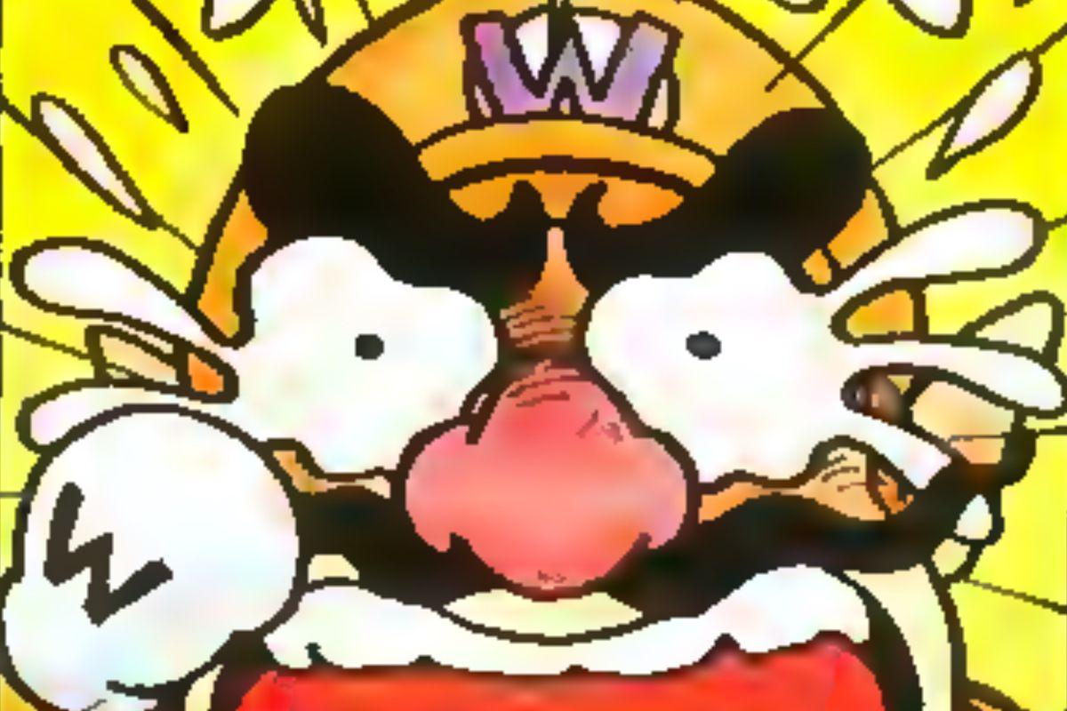Wario cries in a panel from Mario vs. Wario #1 in Nintendo Power magazine