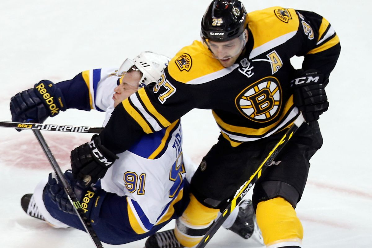 Patrice Bergeron moves on ahead