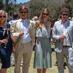 """<span class=""""credit"""">Photo by Dominic James</span></br> Kitty Galsworthy, third from left, was awarded best-dressed guest of the event by Brit designer Zaeem Jamal."""
