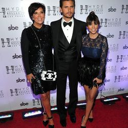 Kris Jenner, Scott Disick and Kourtney Kardashian. Photo: Hyde