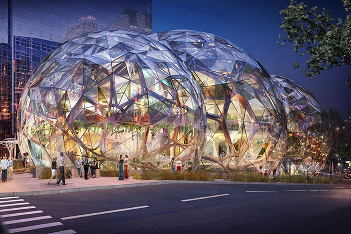 Amazon S Giant Biodome Approved For The Streets Of Seattle