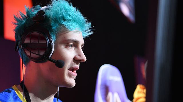 "Streamer Tyler ""Ninja"" Blevins plays Call of Duty: Black Ops 4 during the Doritos Bowl 2018 at TwitchCon 2018"