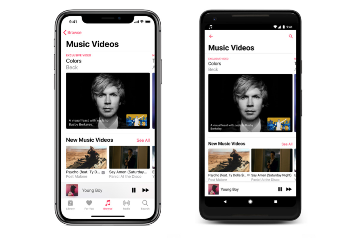 apple music adds dedicated section for music videos - the verge