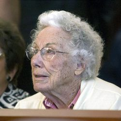 Dora Corbett, Wanda Barzee's mother, listens to the proceedings in Judge Judith Atherton's courtroom during Barzee's sentencing hearing on Friday.