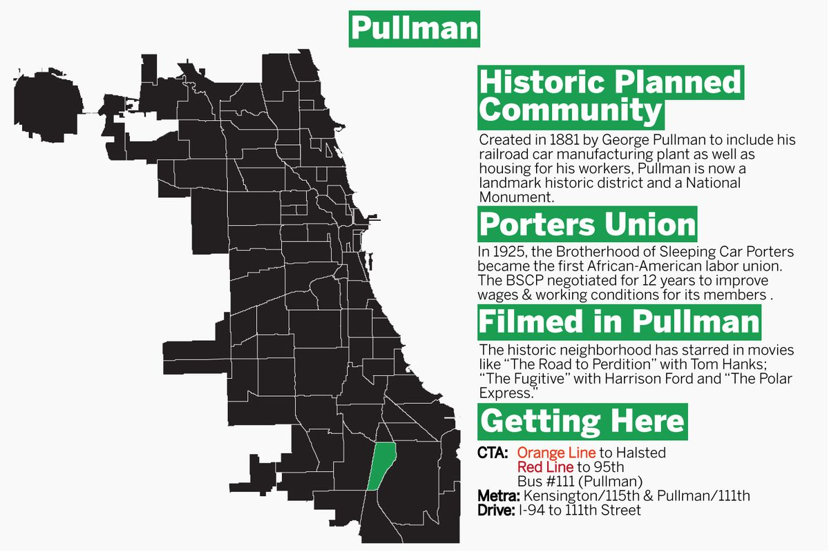 Explore the rich history of Pullman with Ji Suk Yi and The Grid. | Graphic by Tanveer Ali/Sun-Times
