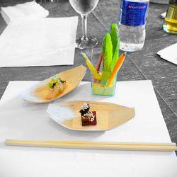 Uchi - Hamachi with citrus, Uchi salad, peanut butter and jelly at Big Taste of Houston