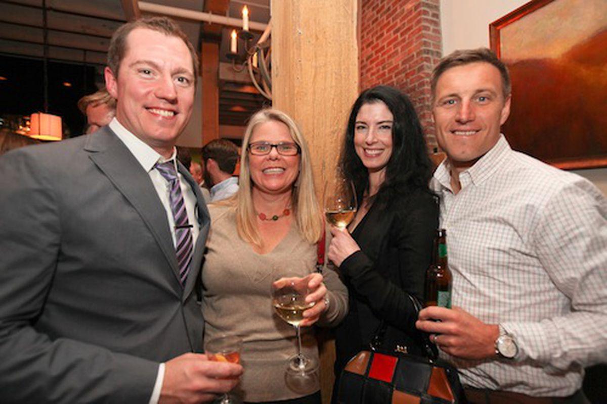 Max MacKissock of the Squeaky Bean, Jen Jasinski of Rioja, Bobby and Danette Stuckey of Frasca