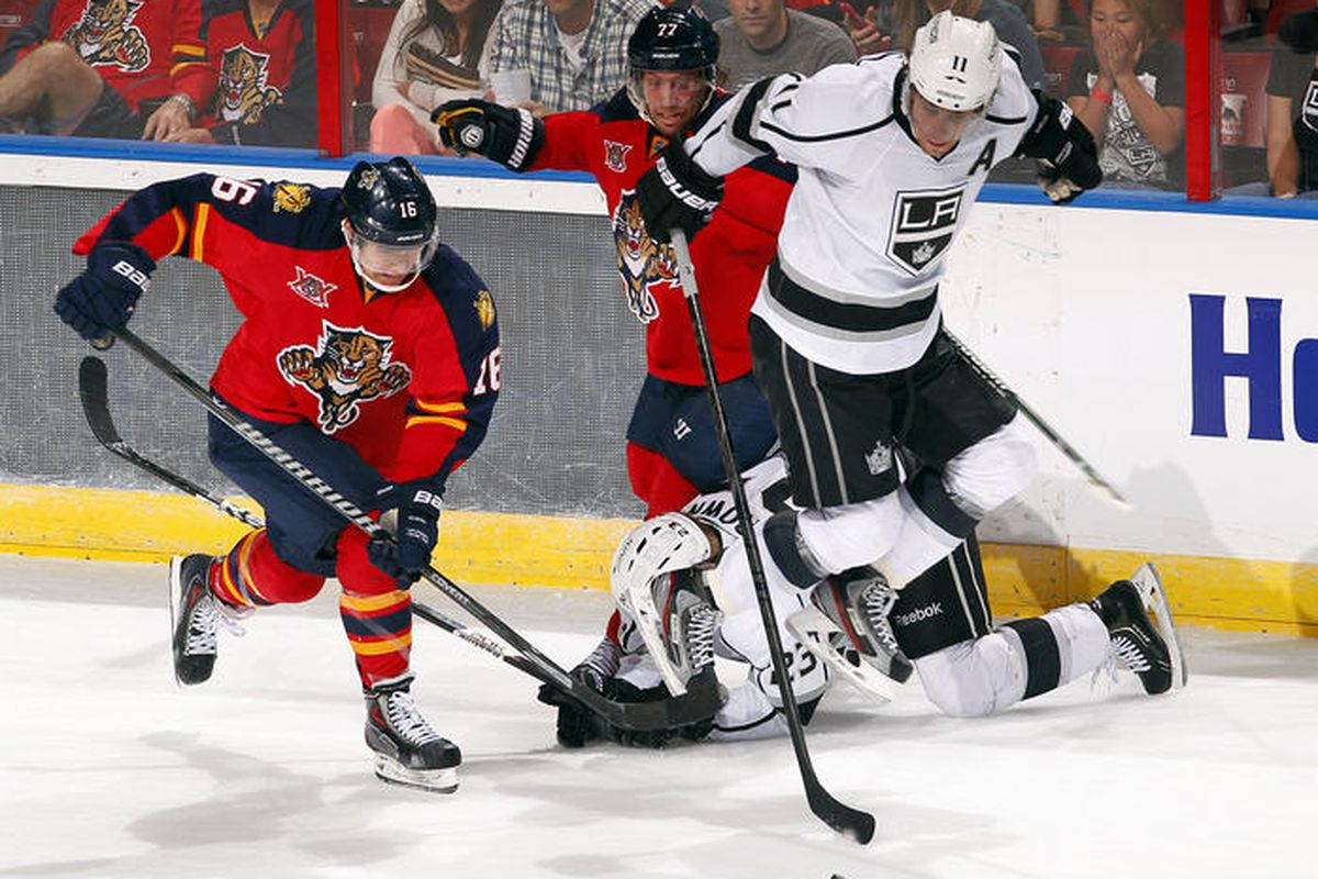 Anze Kopitar is wearing an invisible jet pack.