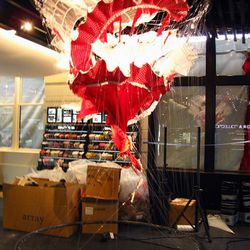 """This sculpture, """"Flamenco Tornado,"""" is the first thing you see when you walk in."""