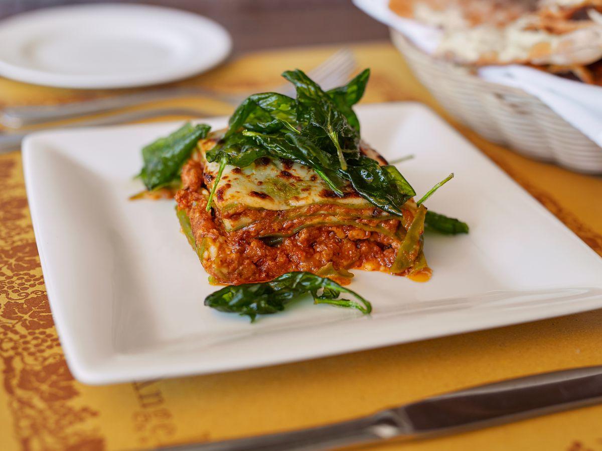 Lasagna at Angelini Osteria