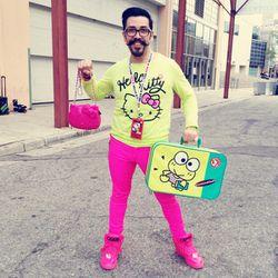 "Tommy Moreno, aka <a href=""http://www.instagram.com/mrhellokittyboy""> Mr. Hello Kity Boy</a>, brightened up the scene."