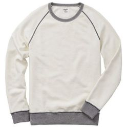 """<strong>Bonobos</strong> Brookhaven Sweatshirt in Ivory, <a href=""""http://www.bonobos.com/white-color-block-sweatshirt-for-men"""">$98</a>"""
