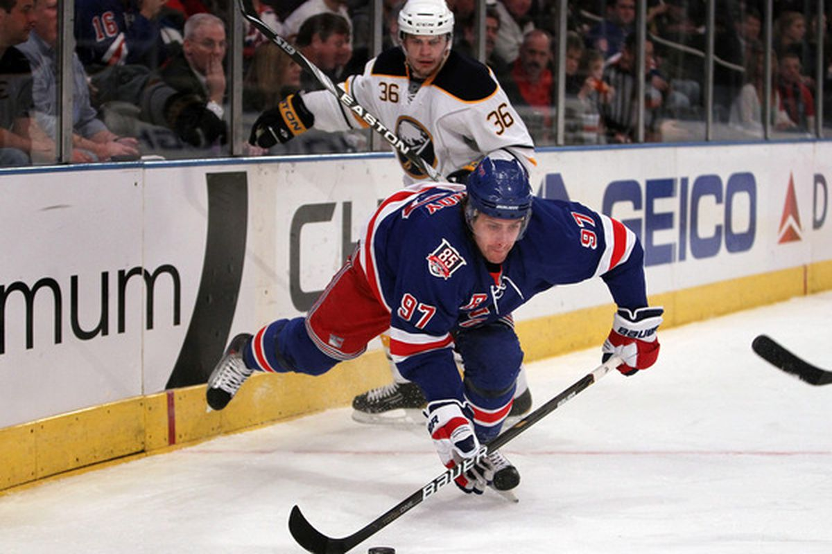 New York Rangers, Buffalo Sabres.  (Photo by Nick Laham/Getty Images)