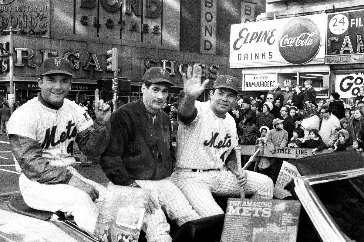 N.Y. Mets [l. to r.] Tug McGraw, Ron Taylor and Ron Swoboda