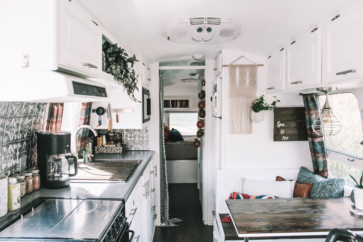 Airstream Trailer Renovation Turns Old Rv Into Bohemian