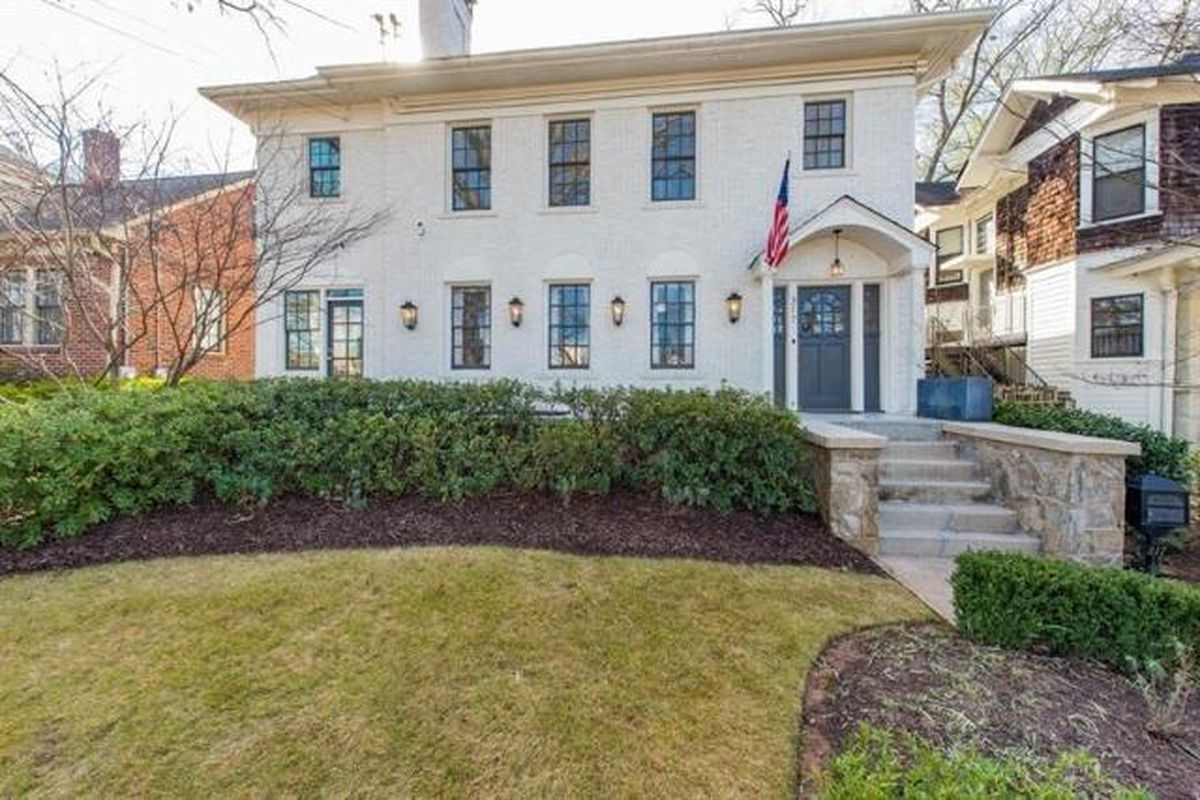 A photo of a house that just sold for a record amount in Atlanta.