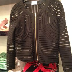 Mesh-detail jacket, $59
