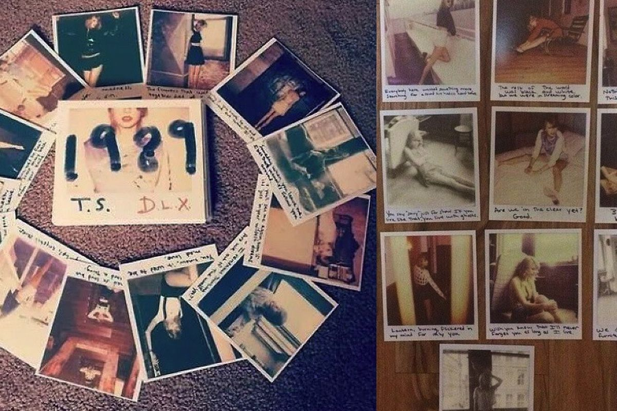 """Images via Tumblr/<a href=""""http://taylorswift.tumblr.com/post/101019602420/the-1989-physical-cd-comes-with-13-polaroids"""">Taylor Swift</a>"""