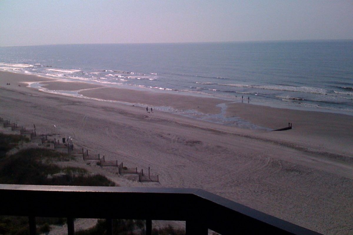 Myrtle Beach (Crescent Beach section) as viewed from my balcony.