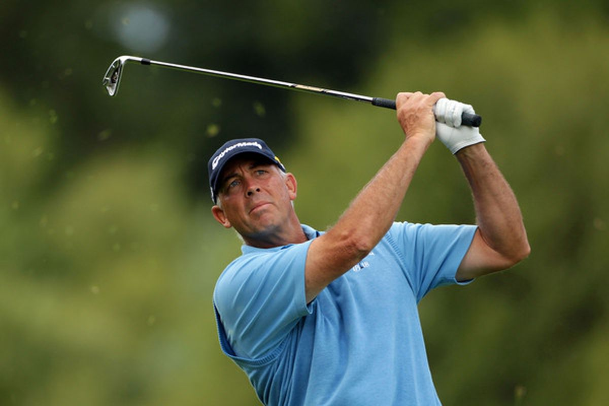 LUSS SCOTLAND - JULY 08:  Tom Lehman of the USA plays an approach shot on the 12th hole during round one of The Barclays Scottish Open at Loch Lomond Golf Club on July 8 2010 in Luss Scotland.  (Photo by Andrew Redington/Getty Images)