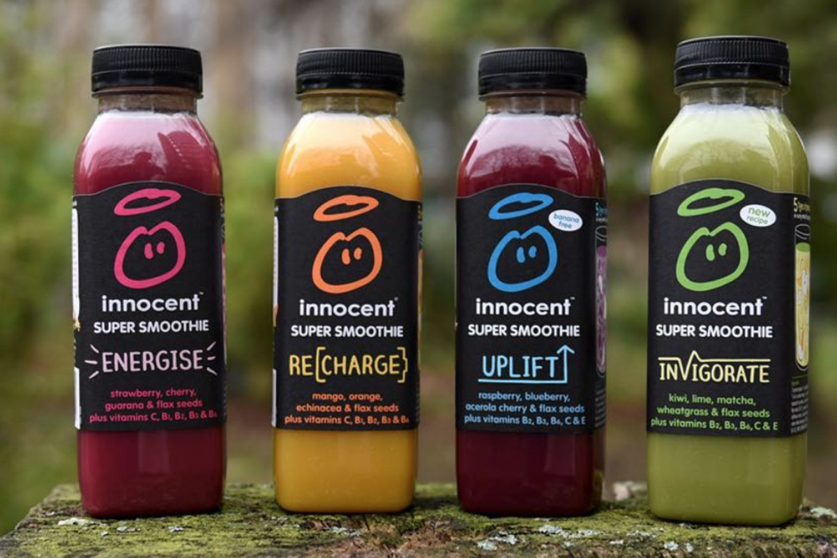 Innocent Drinks's smoothie range, which does not include conker milk