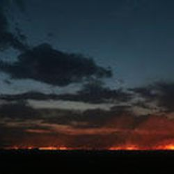 Fire burns in the flats near I-15 south of Kanosh.