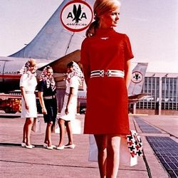 """The """"American Beauty"""" uniform of the 60s. Photo via <a href-""""http://www.papermag.com/2013/06/fab_flight_attendants.php"""">PaperMag.com.</a>"""