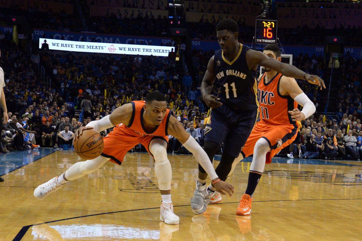 NBA: New Orleans Pelicans at Oklahoma City Thunder
