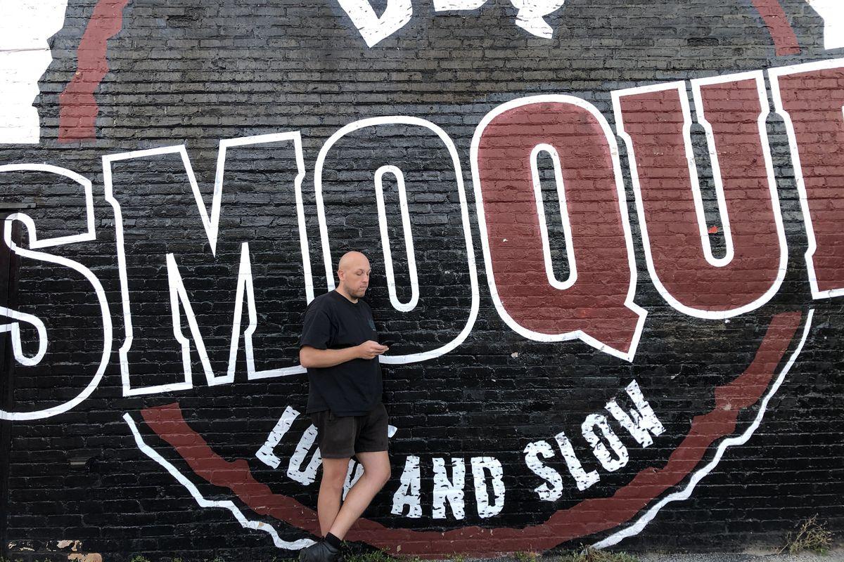 """""""Food Americana,"""" a new book by David Page, the creator of """"Diner's, Drive-Ins and Dives,"""" features Chicago's Smoque BBQ, 3800 N. Pulaski Rd."""