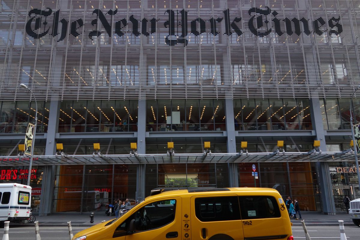 New York Times offices in New York, NY.