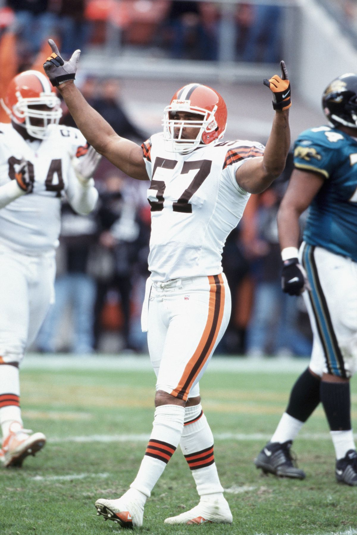 Dwayne Rudd #57 of the Cleveland Browns