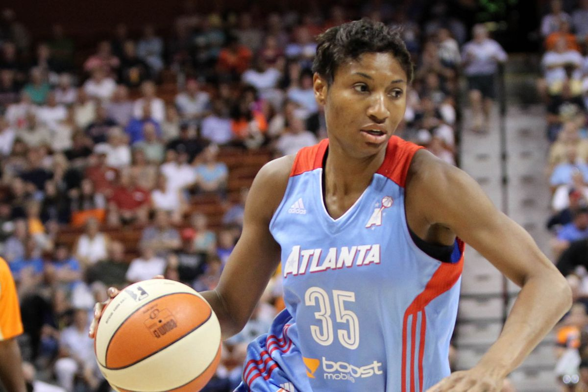 Angel McCoughtry has led the Dream to a WNBA-best 7-1 record.