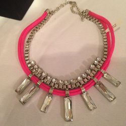Rope and rhinestone necklace, $10