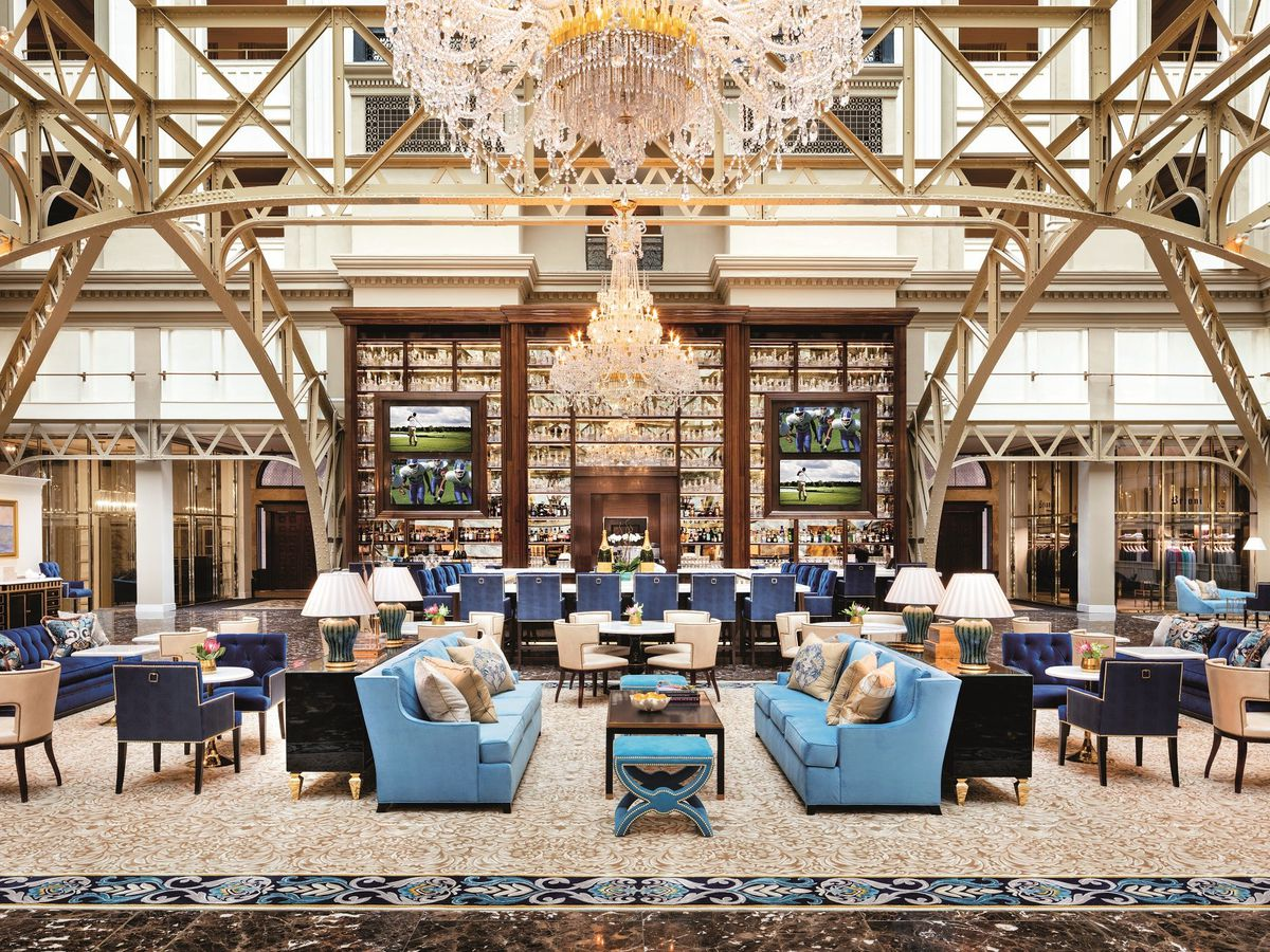 D c s 12 most beautiful hotel lobbies mapped curbed dc for Trump hotel dc decor