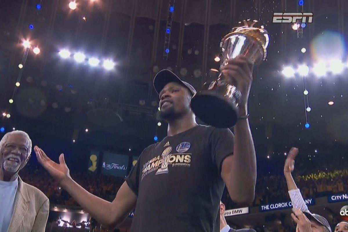 Kevin Durant wins 2017 NBA Finals MVP award - SBNation.com