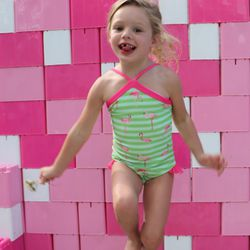 Whitney Cheney recently launched LaLa Swimwear, a modest swimsuit company for little girls.