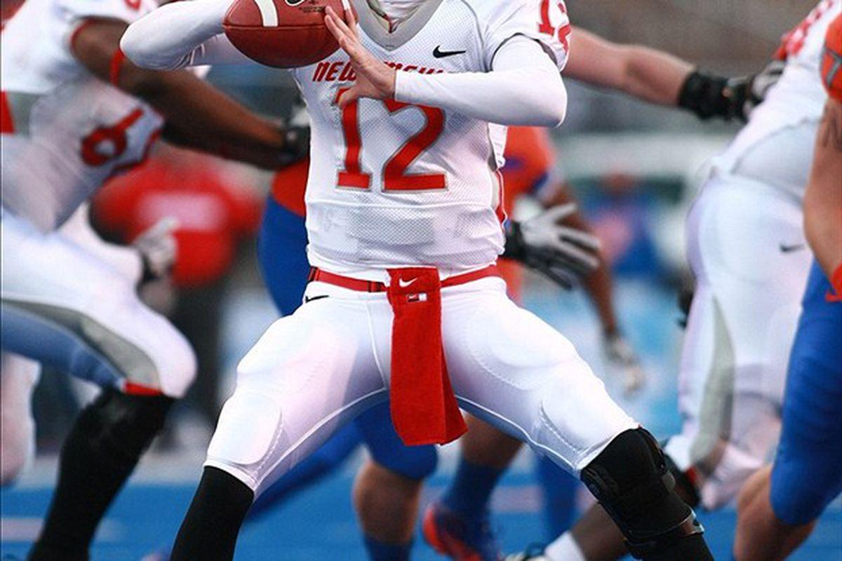 New Mexico senior quarterback B.R. Holbrook.