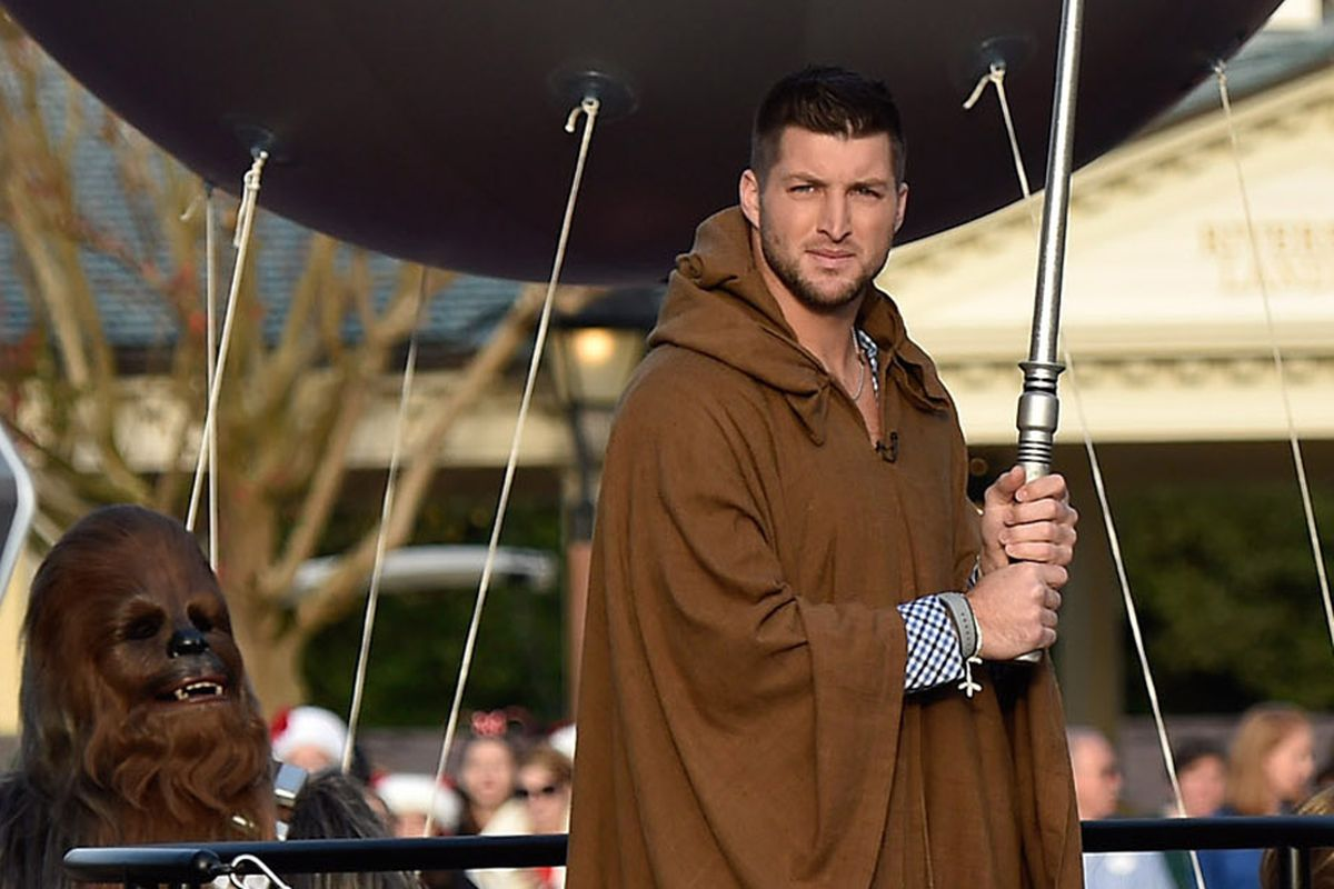 Michael Sam being gay is a distraction, but Tim Tebow as a jedi is just par for the course.