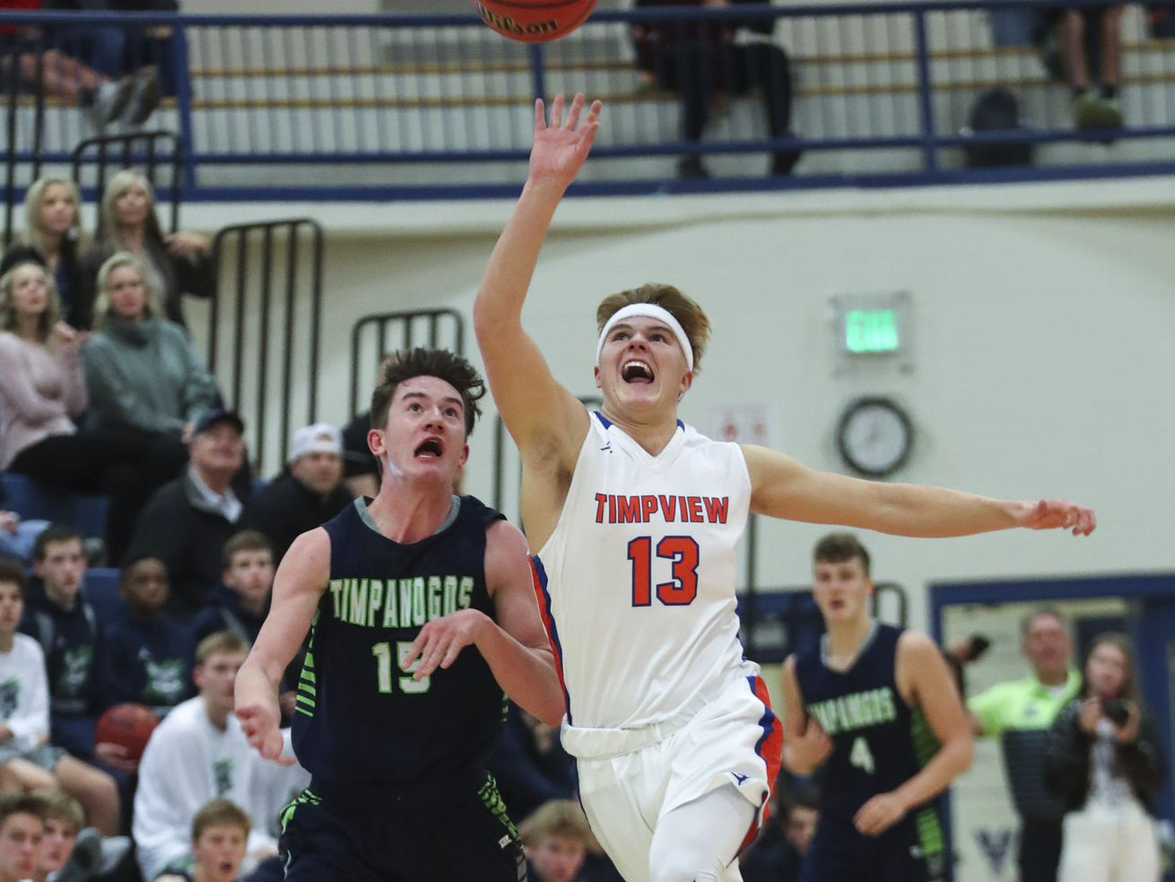Action in the Timpanogos at Timpview boy's basketball game in Provo on Tuesday, Jan. 7, 2020.