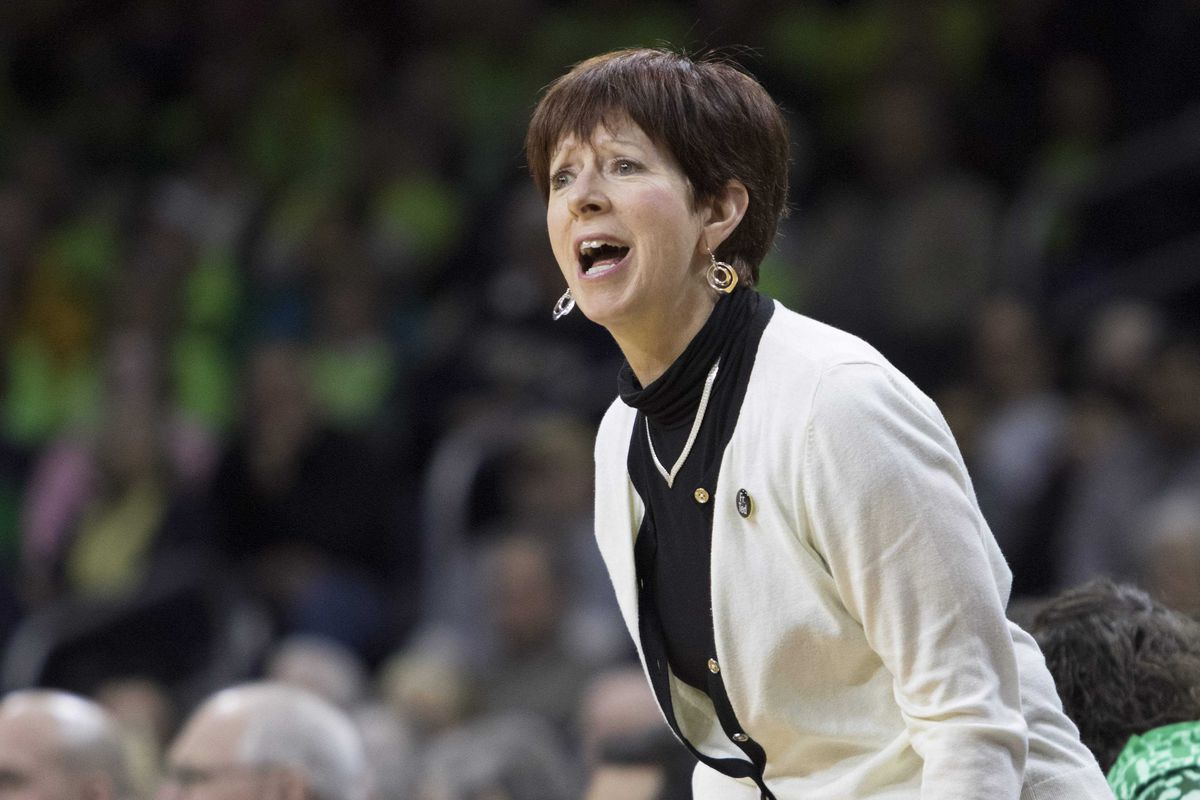 Notre Dame's Muffet McGraw is taking aim at a national championship this weekend.