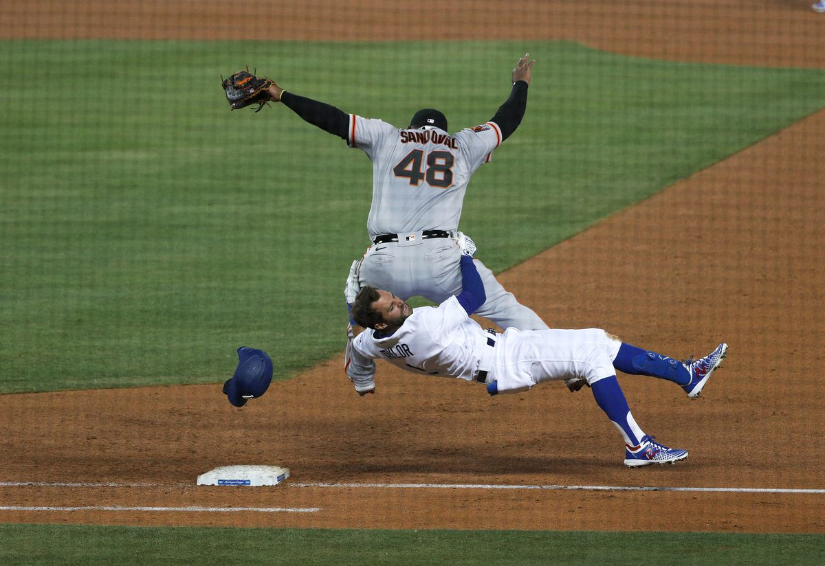 Dodgers play the San Francisco Giants at Dodger Stadium in Los Angeles, CA